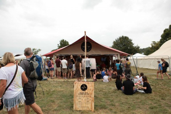 The Brand space that I constructed (not the tent) for Victorinox